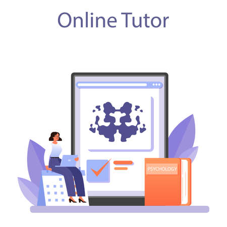 Psychologist online service or platform. Mental health diagnostic