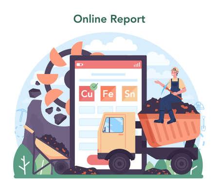 Ferrous metallurgy online service or platform. Steel or metal extracting
