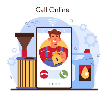 Car repair service online service or platform. Mechanic check 일러스트