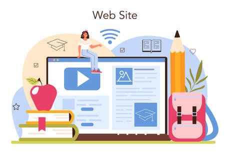 Teacher online service or platform. Professor giving a lesson