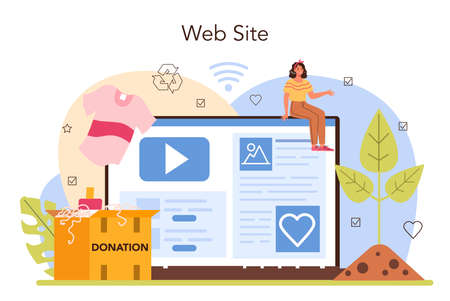 Volunteer online service or platform. Social worker support old