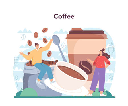 Barista concept. Bartender making a cup of hot coffe. Coffeehouse