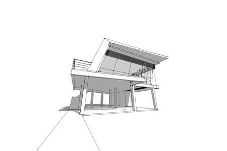 dessin de maison moderne finest plan de maison de m with dessin - Architecture Moderne Maison Dessin
