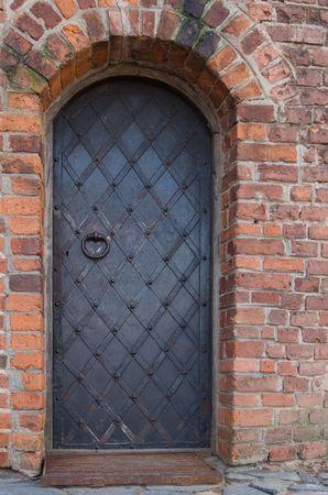 old metalic doors in castle Stock Photo - 5516238