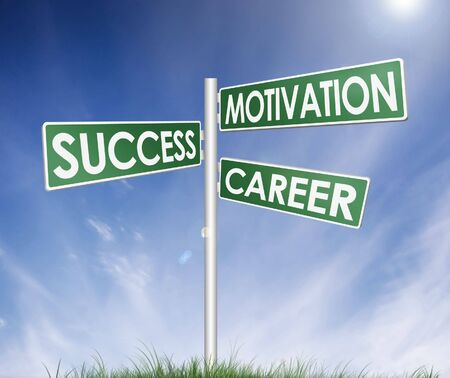direction sign (tree) of success, motivation and career photo
