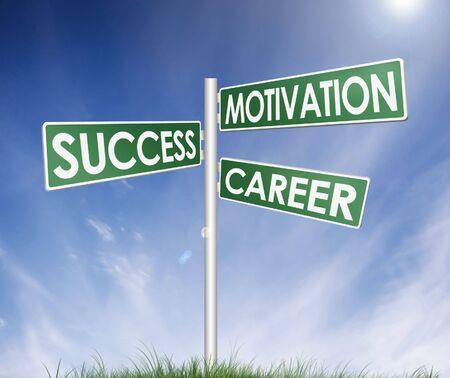 leading the way: direzione segno (albero) di successo, la motivazione e la carriera