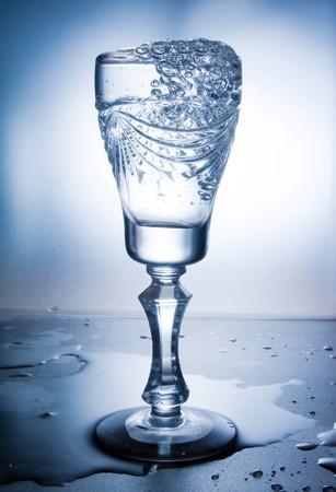 welling: acqua spruzzata in vetro