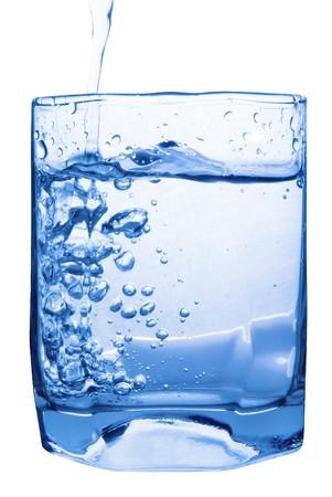 welling: water splash in glass
