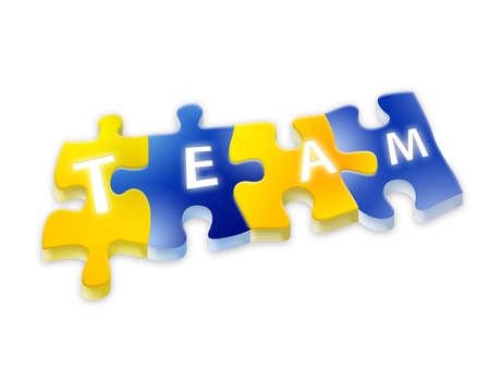 Puzzle team isolated background  photo