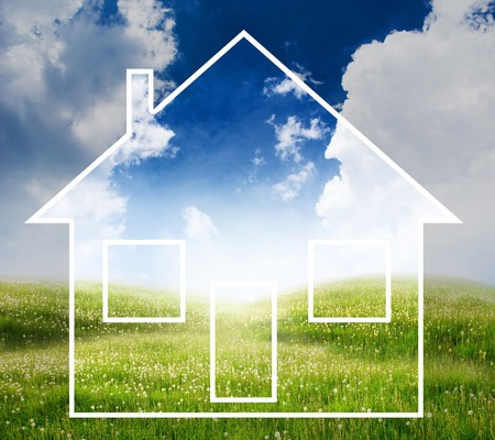 house concept with landscape Stock Photo - 8035391