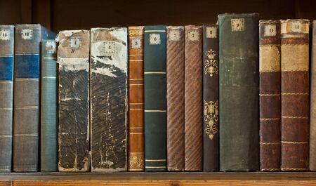 book row close-up Stock Photo