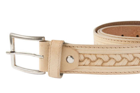waistband: belt for man Stock Photo