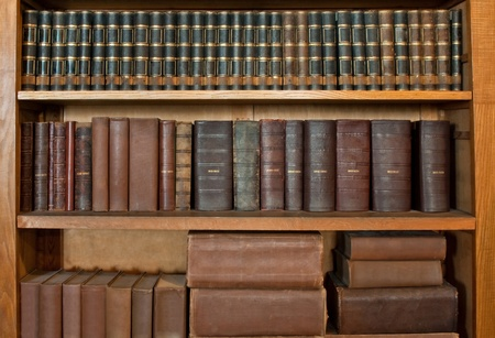 antique book row photo