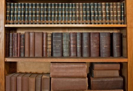 antique book row Stock Photo