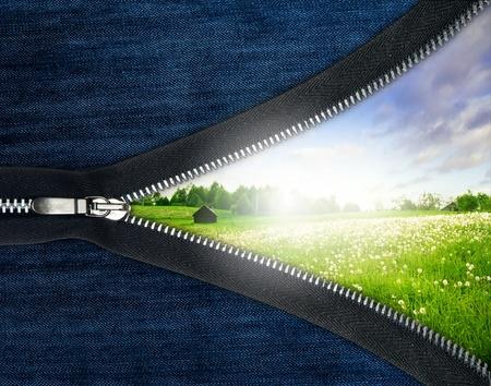 inspiratie: Rits Enclosing zomer concept Stockfoto