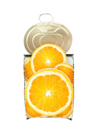 Fresh orange.in cross-section Can fruit concept. photo