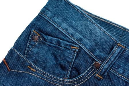 pocket: blue jeans isolated Stock Photo