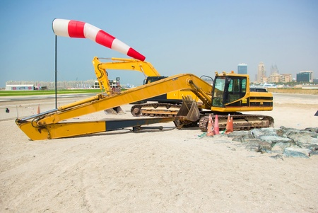 Construction tractor in Dubai, United Arab Emirates  photo