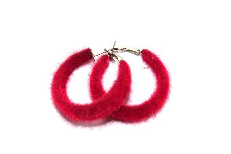shiny metal: earrings Stock Photo