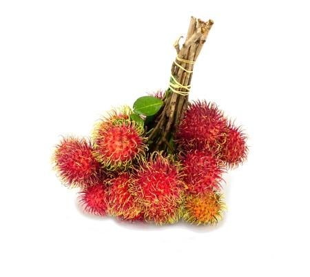 isolated: Rambutan fruits isolated on white