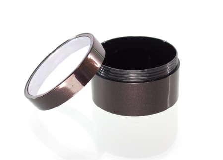 shiny: powder box on white  Stock Photo