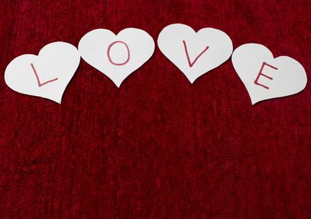 te quiero: Papel de amor