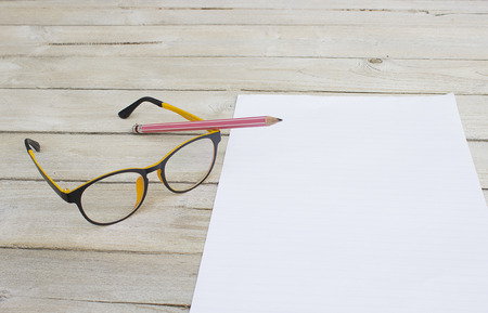 pencil and paper: Write to the memories on paper, pencil and glasses