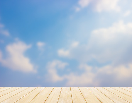 blue  backgrounds: blur, blue sky Backgrounds and Wood Floor