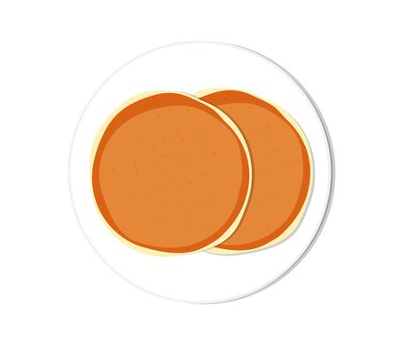Vector illustration Pancake