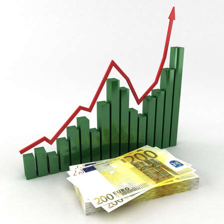 graph with euro photo