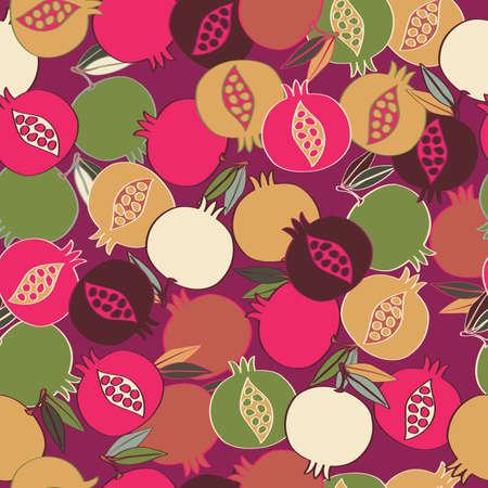 Pomgranate 패턴 원활한 패턴 벡터 일러스트 레이 션