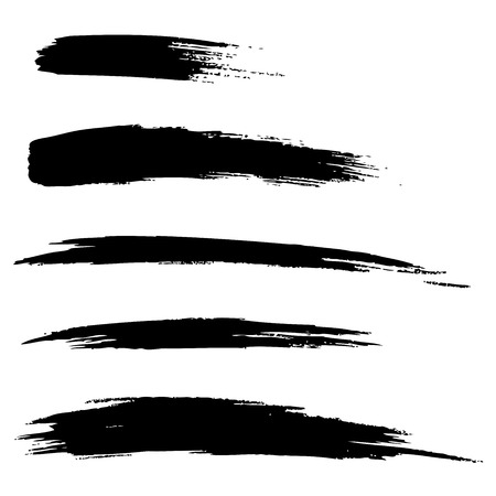 paintbrush: Set of Hand Drawn Grunge Brush Lines, vector illustration