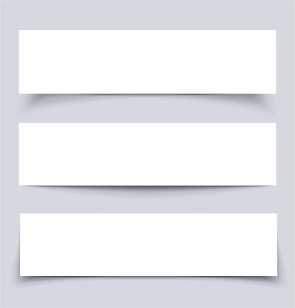 Banner mit Schatten, Vektor-Illustration Standard-Bild - 23644589
