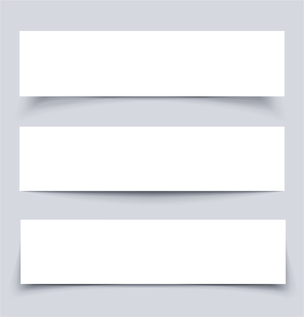 empty banner: Banners with shadows, vector illustration