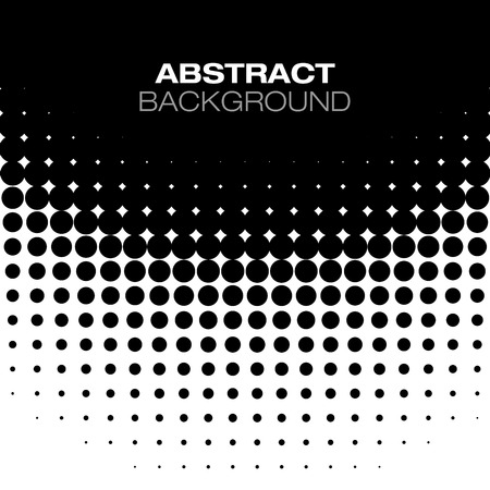 Abstract Black Halftone Background Vector Illustration