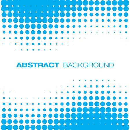 抽象的な青いハーフトーンの背景  イラスト・ベクター素材