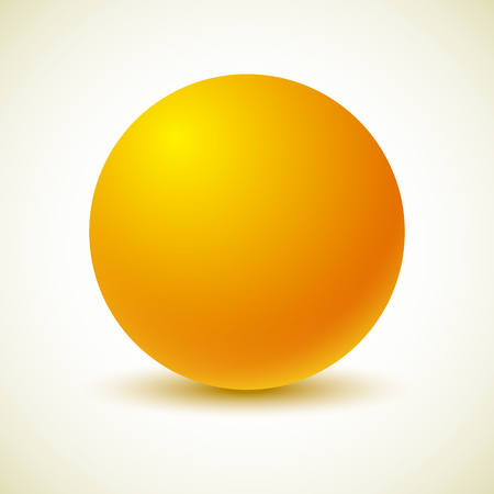 Yellow ball Vector