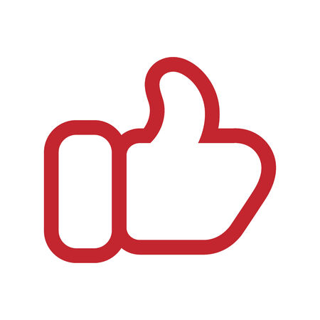 red mitten thumb up icon Vector