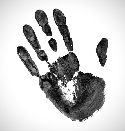 Blacxk Print of hand Vector