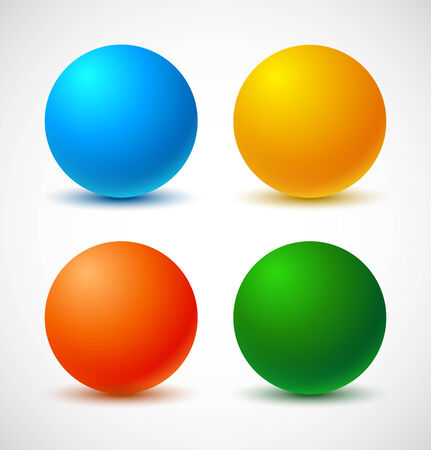 Set of colorful balls Vector