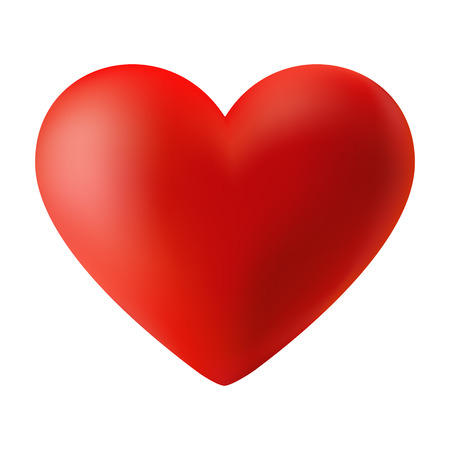 el coraz�n de san valent�n: Rojo coraz�n de San Valent�n 3d Vectores