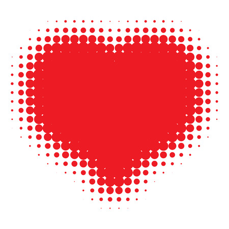 love image: Red Heart Halftone