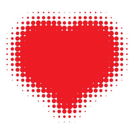 love symbols: Red Heart Halftone