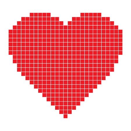 Red pixel Heart