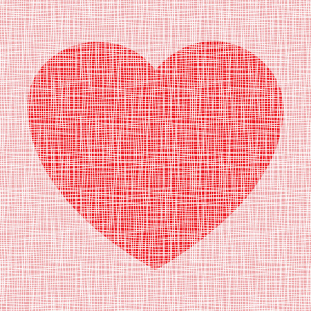 Heart on canvas texture Vector