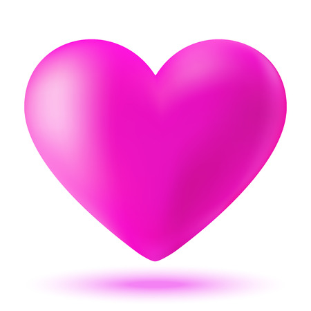 glamorous couple: Pink 3d valentine heart