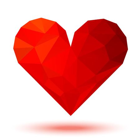 glamorous couple: Red 3d valentine heart