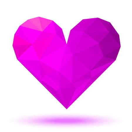 glamorous couple: Pink - Violet 3d valentine heart