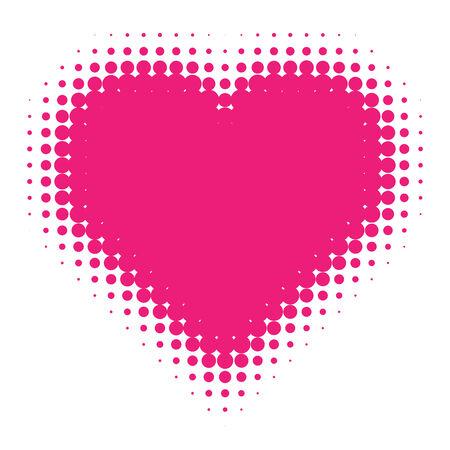 heart clipart: Pink Halftone heart Illustration