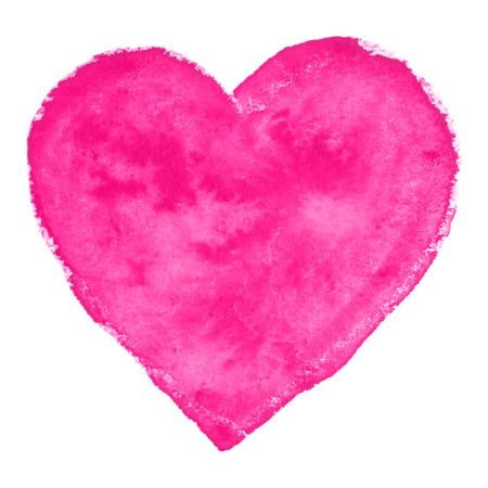 heart shape hands: Pink Watercolor Heart, vector illustration